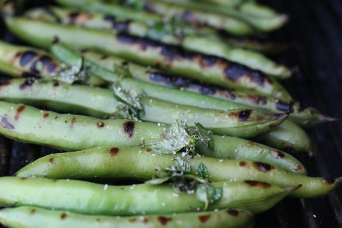 Grilled Favas