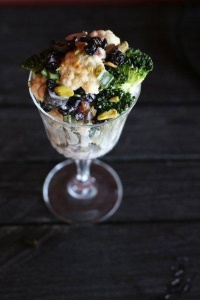Veggies in a parfait