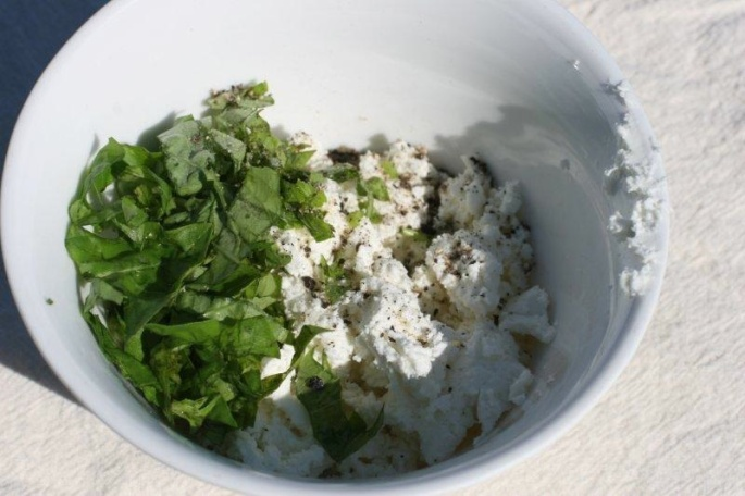 Basil and Chevre