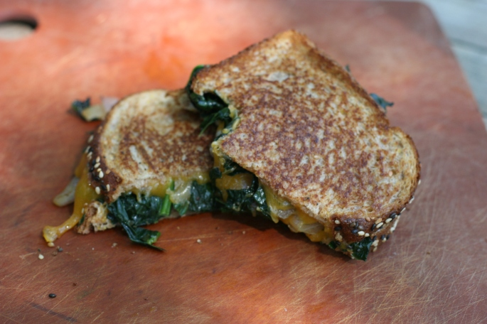 grilled cheese and kale