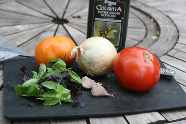 tomatoes basil garlic onions
