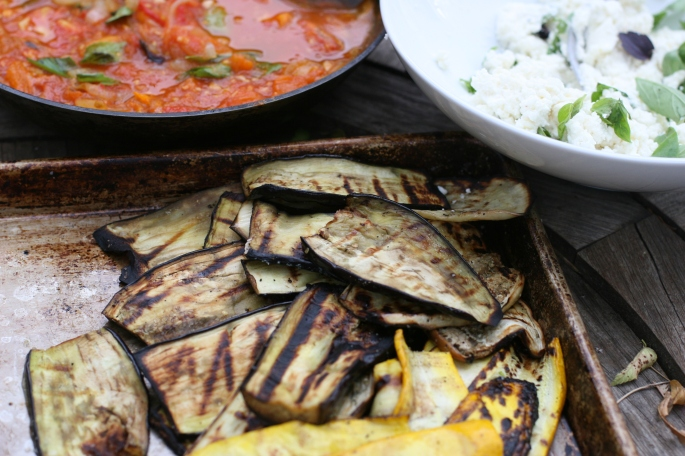 grilled eggplant and zucchini