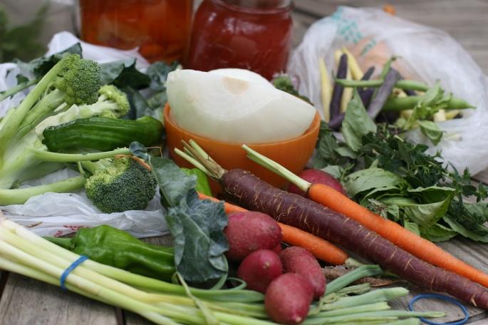 leftover vegetables