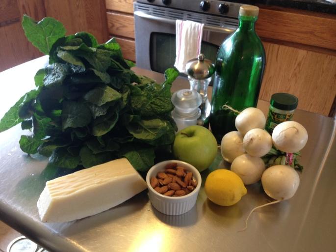 Kale and Apple Salad Ingredients