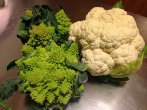 Romanesco and Cauliflower